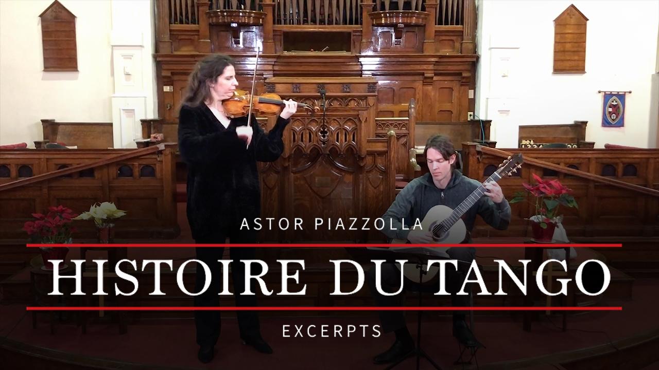 Astor Piazzolla - Histoire du Tango - Excerpts - Laurence Kayaleh Violin, Michael  Kolk Guitar