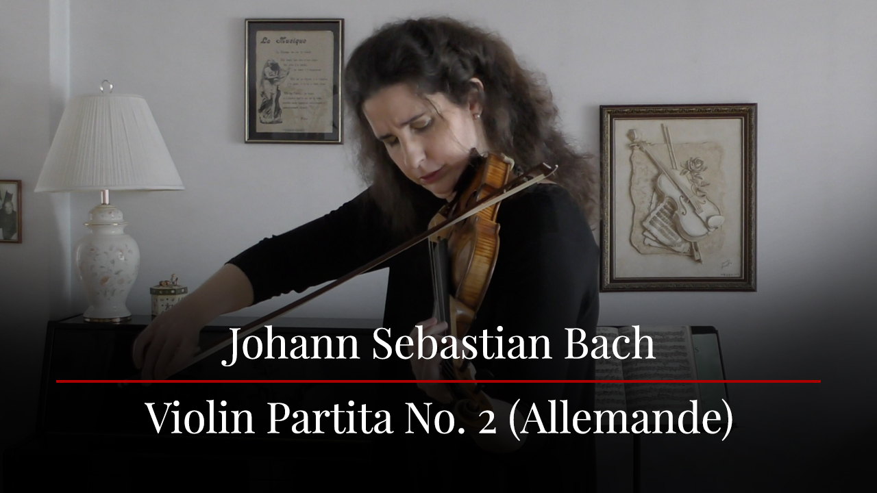 Laurence Kayaleh - Live From Home - Bach Allemande - May 2020