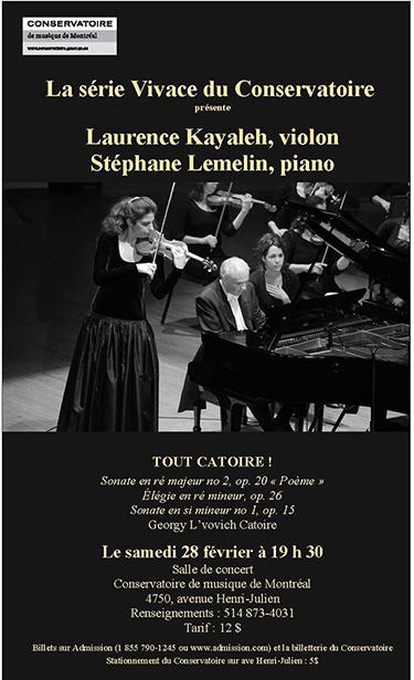 Georgy Lvovich Catoire - Œuvre complète pour Violon et Piano