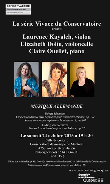 Musique Allemande - Concert de Musique de Chambre - 24 octobre 2015