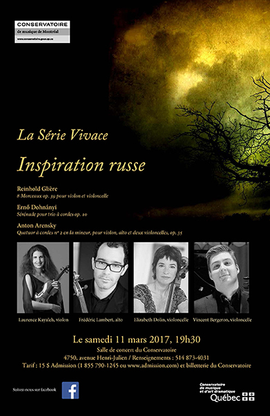 Inspiration Russe - Concerts - 11, 12, 16, 19 mars 2017