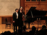 Recital in Tokyo, Japan, Violinist Laurence Kayaleh with Pianist Yusuke Kikuchi