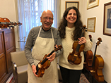 Laurence Kayaleh with eminent violin maker, Roland Baumgartner - 1