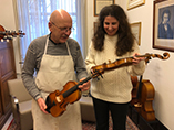 Laurence Kayaleh with eminent violin maker, Roland Baumgartner - 2