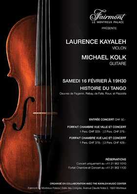 Laurence Kayaleh, violin & Michael Kolk, guitar. Tickets are now available !