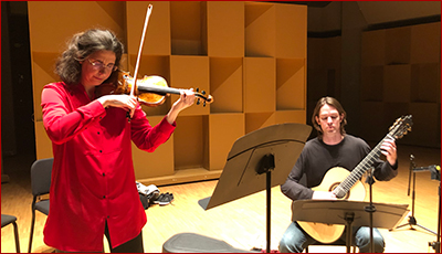 Laurence Kayaleh - CD Recording Session (Violin & Guitar) - June 2019