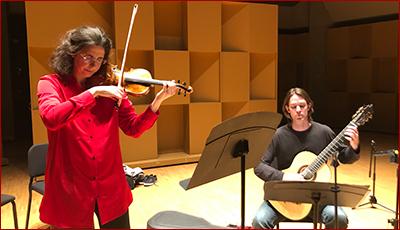 Laurence Kayaleh - CD Recording Session (Violin & Guitar) - June 2019