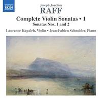 Joachim Raff Complete Violin Sonatas (volume1) - Release Date - Front Cover