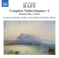 Joachim Raff Complete Violin Sonatas (volume1) - Date de Sortie - Couverture avant