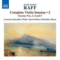 Joachim Raff Complete Violin Sonatas (volume 2) - Release Date - Front Cover