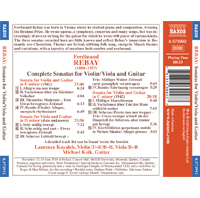 New Album Release - Ferdinand Rebay (1880-1953) - Back Cover