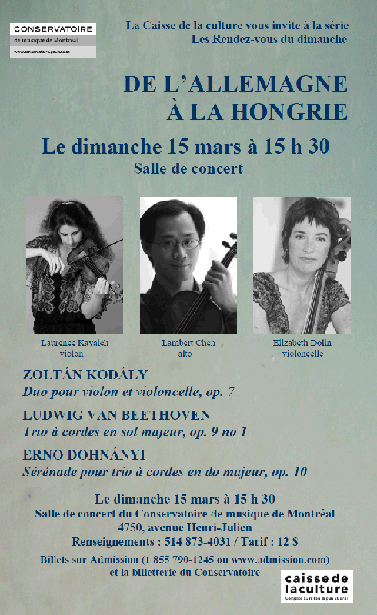 Chamber Music Concert - March 15, 2015