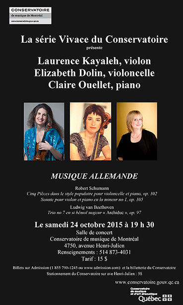 Music of Germany - Chamber Music Concert - October 24, 2015
