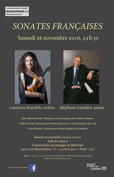 French Sonatas - Laurence Kayaleh & Stéphane Lemelin in Recital