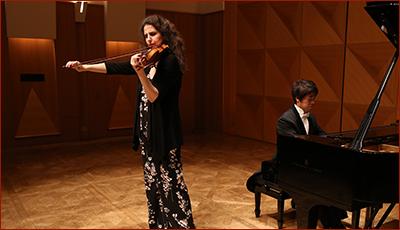 Laurence Kayaleh Violinist - JT Art Hall, Tokyo, Japon